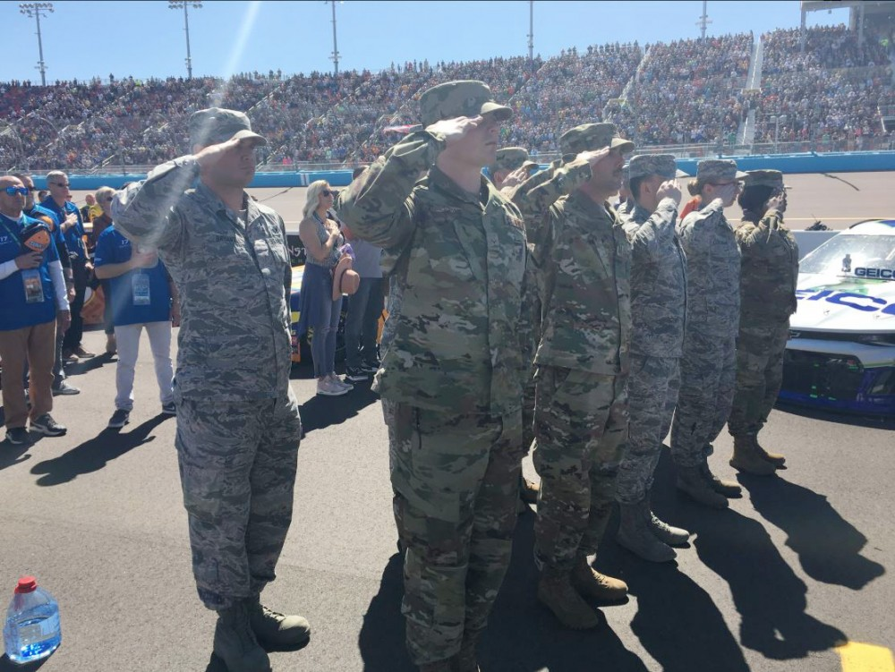 Luke AFB airmen visit Avondale NASCAR race as part of Troops to the Track initiative
