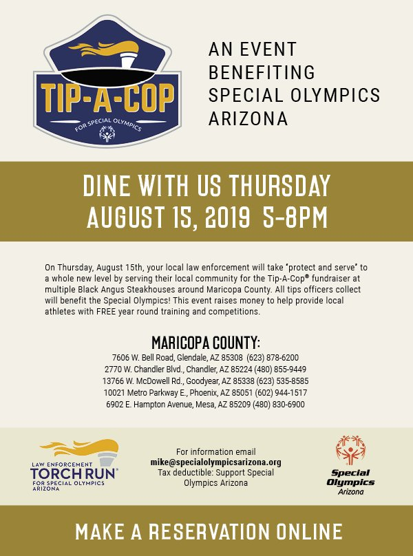 Glendale police host Special Olympics fundraiser Thursday night - Your Valley